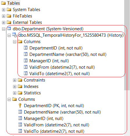 System-Versioned Tables