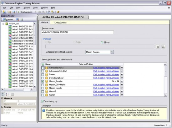 SQL Server Database Engine Tuning Advisor